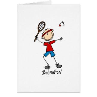 Camisetas y regalos del jugador del bádminton tarjeta