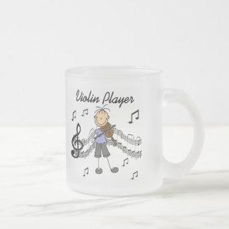 Camisetas y regalos del jugador del violín del chi taza cristal mate