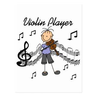 Camisetas y regalos del jugador del violín del postal