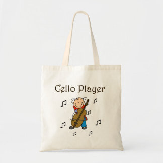 Camisetas y regalos del jugador del violoncelo bolsa tela barata