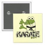 Camisetas y regalos del karate de la rana pin cuadrada 5 cm