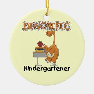 Camisetas y regalos del Kindergartener de Adorno Navideño Redondo De Cerámica