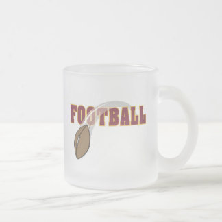 Camisetas y regalos del lanzamiento del fútbol taza de cristal