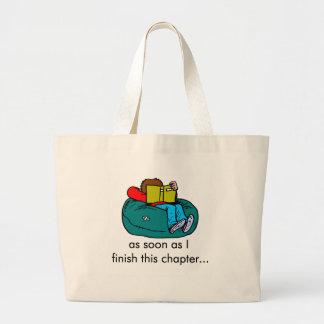 Camisetas y regalos del lector bolsa tela grande