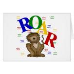 Camisetas y regalos del león del rugido felicitacion