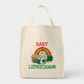 Camisetas y regalos del Leprechaun del bebé Bolsa Tela Para La Compra