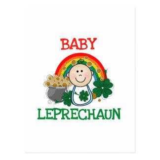 Camisetas y regalos del Leprechaun del bebé Postal