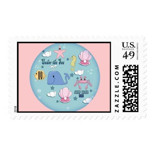 Camisetas y regalos del mar de los niños sellos postales