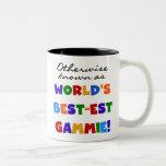 Camisetas y regalos del Mejor-est Gammie del mundo Taza Dos Tonos