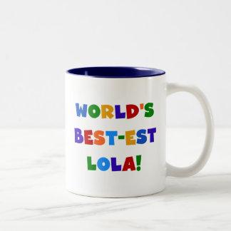 Camisetas y regalos del Mejor-est Lola del mundo Taza Dos Tonos
