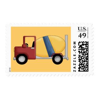Camisetas y regalos del mezclador de cemento sellos postales