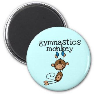 Camisetas y regalos del mono de la gimnasia imán redondo 5 cm