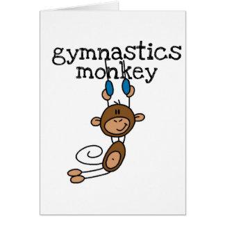 Camisetas y regalos del mono de la gimnasia tarjeta de felicitación