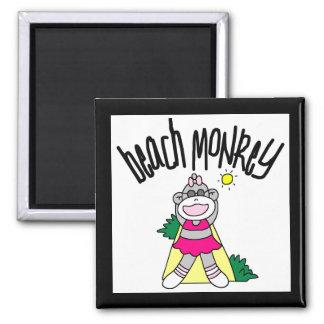 Camisetas y regalos del mono de la playa imán