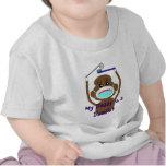 Camisetas y regalos del mono del calcetín del
