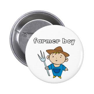 Camisetas y regalos del muchacho del granjero pin
