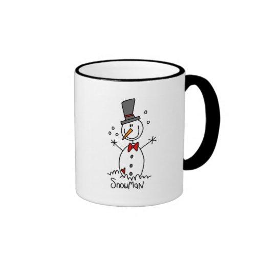 Camisetas y regalos del muñeco de nieve del día de tazas de café