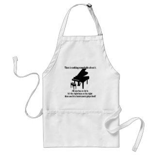 Camisetas y regalos del músico del pianista delantal