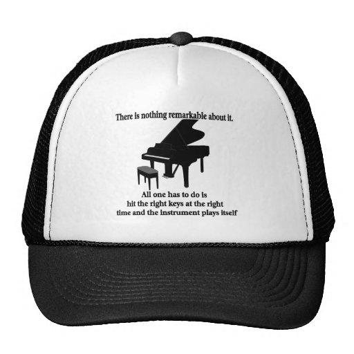 Camisetas y regalos del músico del pianista gorro de camionero