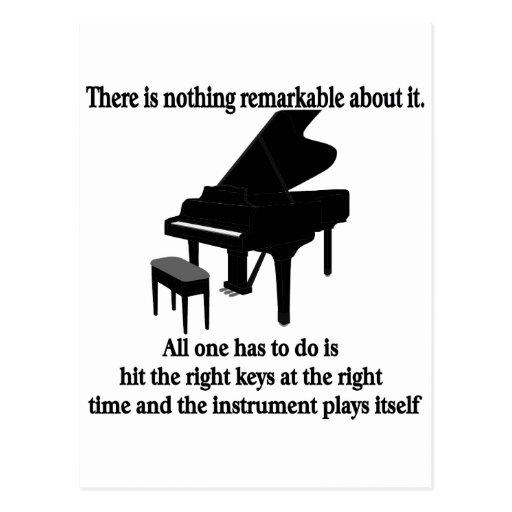 Camisetas y regalos del músico del pianista postal