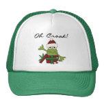 Camisetas y regalos del navidad de la rana del emb gorra