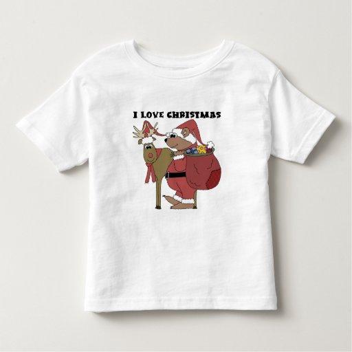 Camisetas y regalos del navidad del amor de los playeras