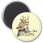 Camisetas y regalos del navidad del reno de Blitze Imán De Frigorífico