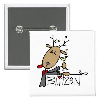 Camisetas y regalos del navidad del reno de Blitze Pin