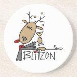 Camisetas y regalos del navidad del reno de Blitze Posavasos Para Bebidas