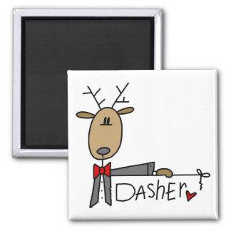 Camisetas y regalos del navidad del reno de Dasher Imán Cuadrado