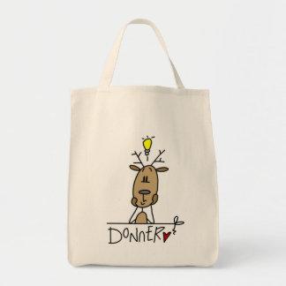 Camisetas y regalos del navidad del reno de Donner Bolsa Tela Para La Compra