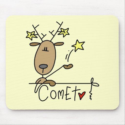 Camisetas y regalos del navidad del reno del comet tapete de raton