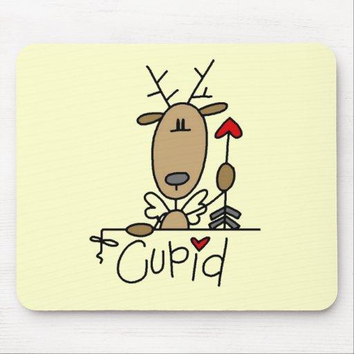 Camisetas y regalos del navidad del reno del Cupid Tapete De Ratones
