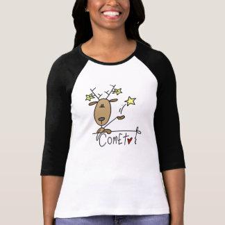 Camisetas y regalos del navidad del reno del poleras