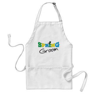 Camisetas y regalos del novio de la primavera delantal