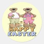 Camisetas y regalos del oso de peluche de Pascua Pegatina