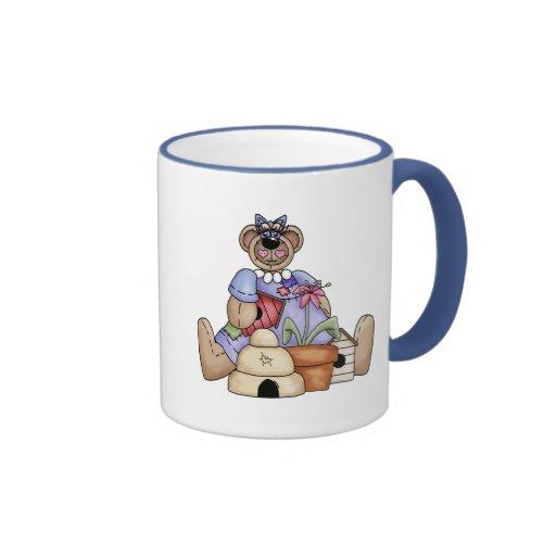 Camisetas y regalos del oso de peluche de Pascua Taza A Dos Colores