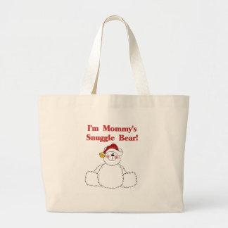 Camisetas y regalos del oso del Snuggle de la mamá Bolsa Tela Grande