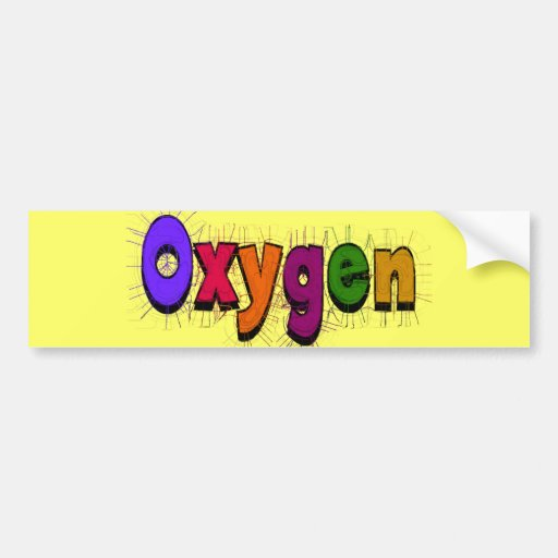 """Camisetas y regalos del """"oxígeno"""" del terapeuta re pegatina de parachoque"""