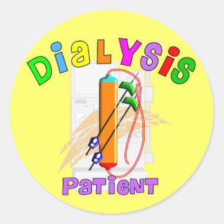 Camisetas y regalos del paciente de diálisis etiqueta redonda