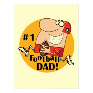 Camisetas y regalos del papá del fútbol del número postal
