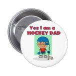 Camisetas y regalos del papá del hockey pin