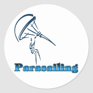 Camisetas y regalos del Parasailing Etiquetas Redondas