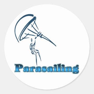 Camisetas y regalos del Parasailing Pegatina Redonda
