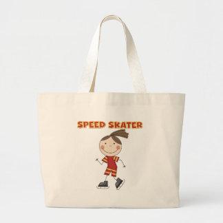 Camisetas y regalos del patinador de la velocidad  bolsa tela grande