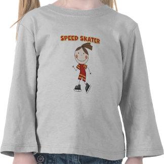 Camisetas y regalos del patinador de la velocidad