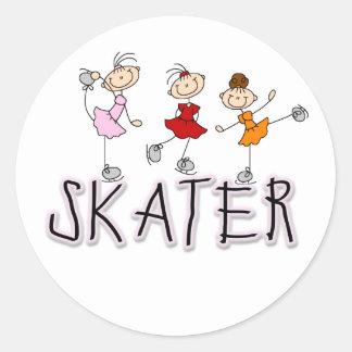 Camisetas y regalos del patinador etiqueta