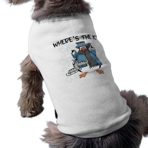 Camisetas y regalos del patinaje de hielo del ping camisetas de perro