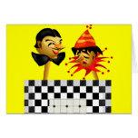 Camisetas y regalos del payaso de circo de los niñ tarjetón