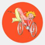 Camisetas y regalos del payaso de circo de los pegatinas redondas